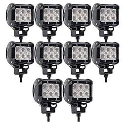 TURBOSII 10Pack 4Inch 18W LED Flood Lights Cube Pods Driving