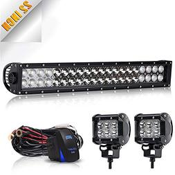TURBOSII DOT Approved 20/22 Inch Led Light Bar Spot Flood Co