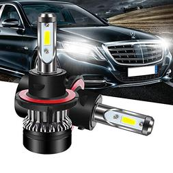 TURBOSII DOT Approved H13 9008 Led Headlight Bulbs High/Low