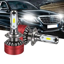 TURBOSII H7 LED Headlight Bulb DOT Approved All-in-One Conve