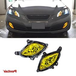 for 10-12 Genesis Coupe DNA MOTORING FL-ZTL-130-CH FLZTL130CH Pair Fog Lights w//Switch