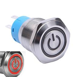 WerFamily 19mm Momentary Push Button Switch 1NO 1NC SPDT ON/