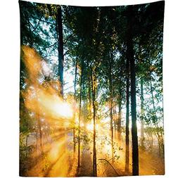 Westlake Art - Fog Forest - Wall Hanging Tapestry - Picture