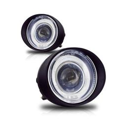 Winjet WJ30-0092-09 Clear Lens Projector Fog Light with LED