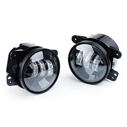 Xprite 2 PCs 4 Inch 60W CREE Led 4800LM Fog Lights for Jeep