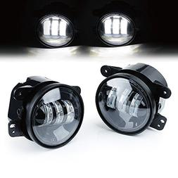 "Xprite 4"" Inch 60W CREE Led Fog Lights for Jeep Wrangler 199"