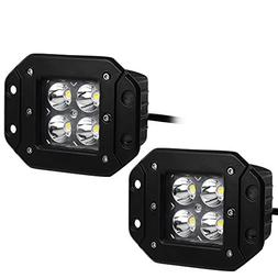 "YITAMOTOR 2 X 20W 4"" inch Spot Square Flush Mount LED Work L"
