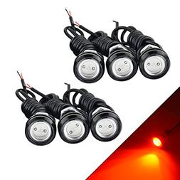 YITAMOTOR 6 x Red Eagle Eye Led Bulbs 18mm 9w High Power Eag