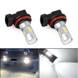 YITAMOTOR Fog Lights LED Bulbs 1200 Lumens Extremely Bright