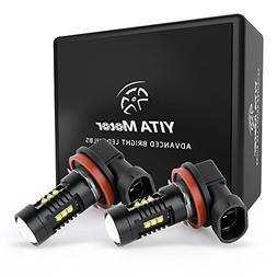 YITAMOTOR High Power 60W Chipsets H8 LED Fog Driving Lights