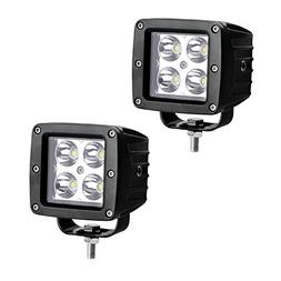 YITAMOTOR Led Cube Light,2pcs 20W Spot Square 4'' LED Light
