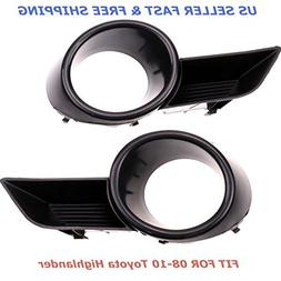 A Pair Front Bumper Fog Light Grille Cover Trim For 08 09 10