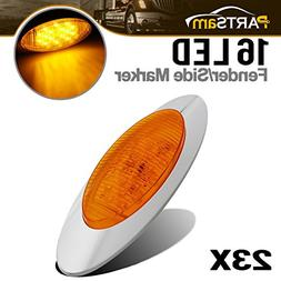 "Partsam 23 Pcs 6.5"" Amber LED Trailer Marker Lights Clearanc"