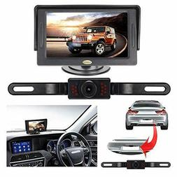 Backup Camera and Monitor Kit for Car, RAAYOO Universal Wire