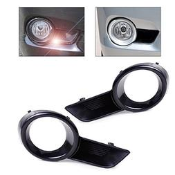 beler Black Front Left + Right Bumper Fog Light Lamp Cover G