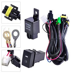 beler H11 Fog Light Lamp Wiring Harness Sockets Wire Switch