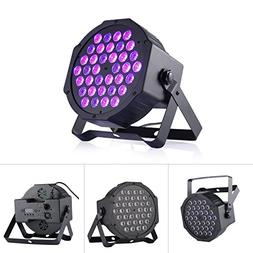 72W Black Light DJ Lights UV Blacklight Stage Spotlight 36 L