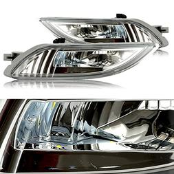 cciyu Clear Lens Replacement Fog Lights Assembly Front Bumpe