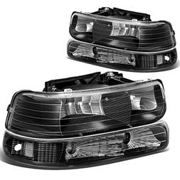 For Chevy Silverado/Tahoe GMT800 4-PC Black Housing Clear Co