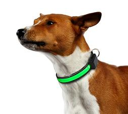 Chickle LED Collar Pet Small Light Solar and USB Rechargeabl