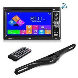 """Premium 6.5"""" Double-DIN Touchscreen Car Stereo Receiver Syst"""