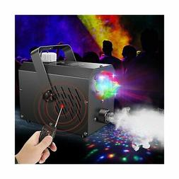Fog Machine with LED Lights - Fansteck Professional Wireless