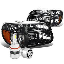 For Ford Explorer/Mountaineer Pair of Smoked Lens Headlight