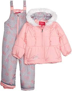 d2dce8cd4 London Fog Girls' Little Snowsuit with Snowbib and Puffer Ja