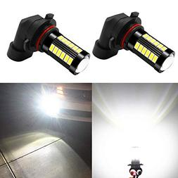 Alla Lighting H10 9145 LED Fog Light Bulbs 2800lm Xtreme Sup