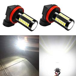 Alla Lighting H16 LED Fog Light Bulbs 2800lm Xtreme Super Br