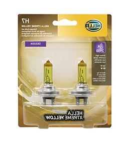 HELLA H7 Yellow-55W YL Xtreme Yellow Bulbs, 12V, 55W, 2 Pack