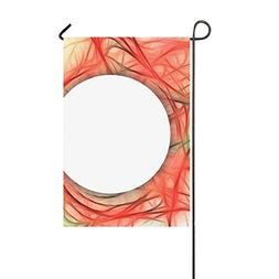 YUMOING Home Decorative Outdoor Double Sided Lines Abstract