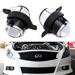 iJDMTOY  OEM Replace Projector Fog Light Housings For Nissan