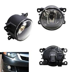 iJDMTOY A Pair Driver Passenger Sides Fog Light Lamps with H