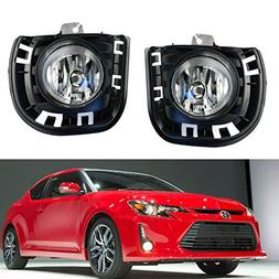 iJDMTOY Complete Set Fog Lights Foglamps w/ H11 Halogen Bulb