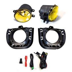 iJDMTOY Complete Set JDM Yellow Lens Fog Lights Foglamps w/