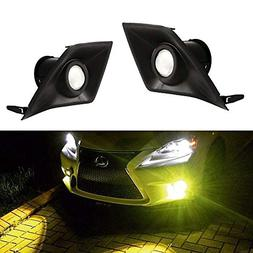 iJDMTOY Gold Yellow Projector Lens LED Fog Lights For 2014-2