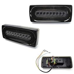 iJDMTOY Smoked Lens LED Turn Signal/Tail Lamps For 99-18 Mer