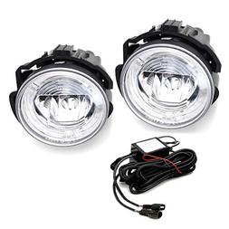 iJDMTOY Xenon White LED Daytime Running Light Fog Lamps For