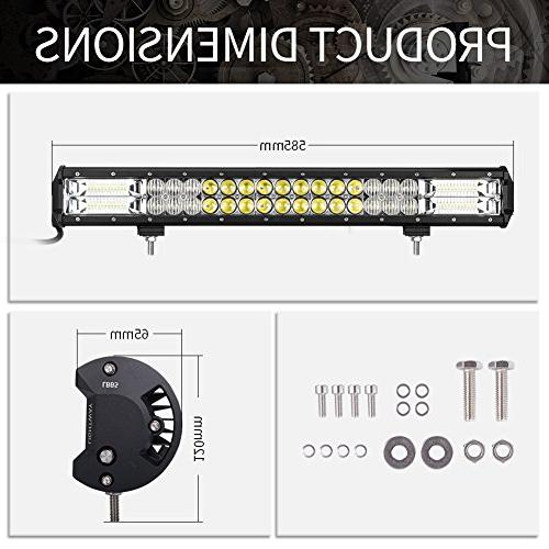 23Inch LED Light LITE-WAY Flood Combo LED Work Driving Cree Combination Offroad 4x4 ATV Pickup Boat