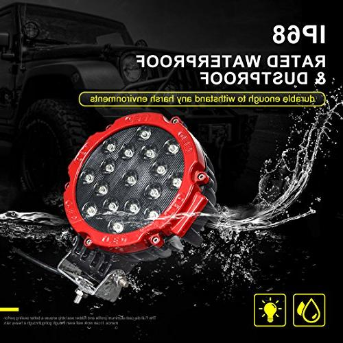 """2PACK 7"""" Pod Lights Bar with Bracket, Round Lamp Headlight for ATV, SUV, Construction, Camping,"""