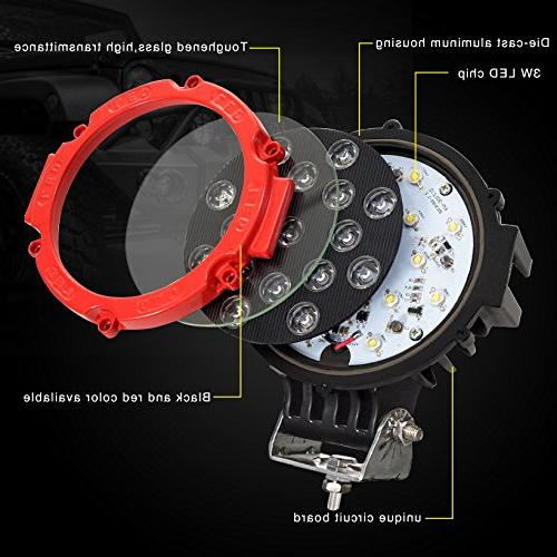 Pod Bar with Round Lamp Headlight Fog Light for Offroader, ATV, SUV, Jeep, Camping, Hunters