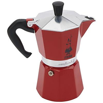 Bialetti 6 Cup Stovetop Red