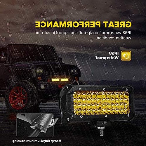 7 Inch 2PC Spot Bar Driving Work Row Lighting for Offroad Truck ATV UTV SUV Wrangler