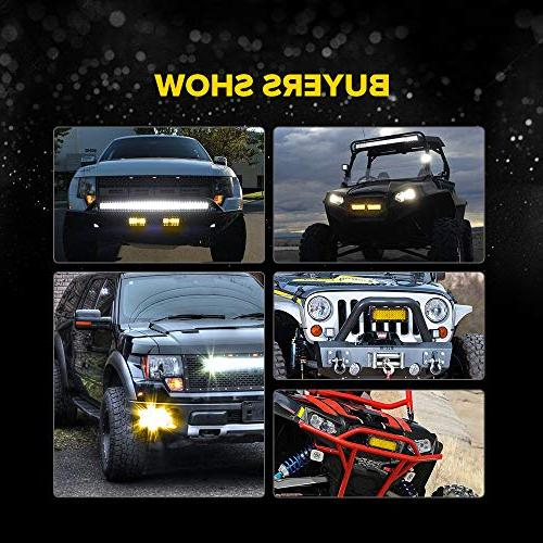 7 Spot Beam Light Bar Sammanlight Light Driving Fog Work Amber Row Offroad SUV Wrangler Boat Marine