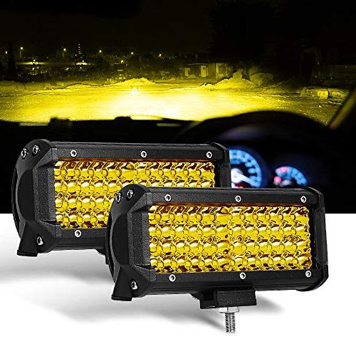 7 inch 2pc yellow spot beam led