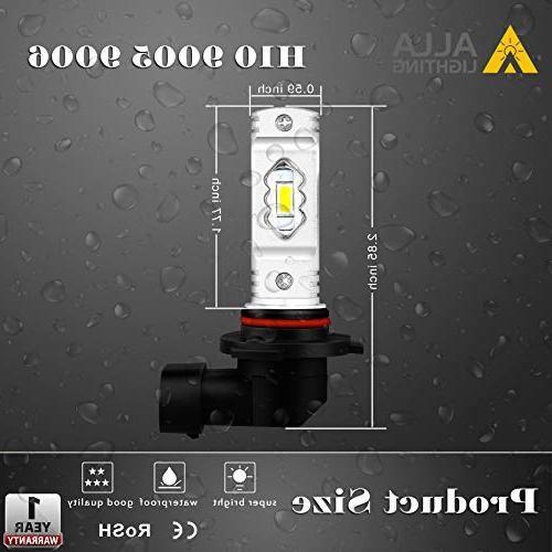 Alla Lighting 9145 LED 3800lm Xtreme Super H10 LED Bulbs 9145 56-SMD 9145 Bulb Auto Car 9045 9145 Fog 3000K Amber