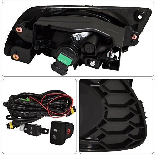 Ajp Distributors Honda Civic Dx Lx Ex Replacement Driving Fog Lights Lamps Assembly Lh Rh Amber + Wiring Switch
