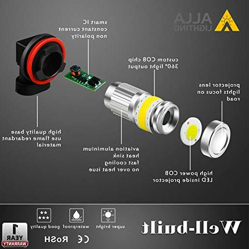 Alla Lighting Super LED Bulbs Illumination COB-72 LED Bulb H16 H11 Fog - 3000K
