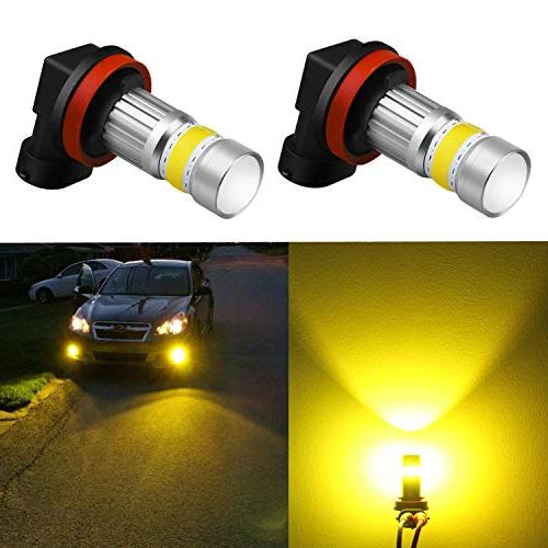 Alla Lighting 2800lm Xtreme Super Bright H11 LED Bulbs Fog L